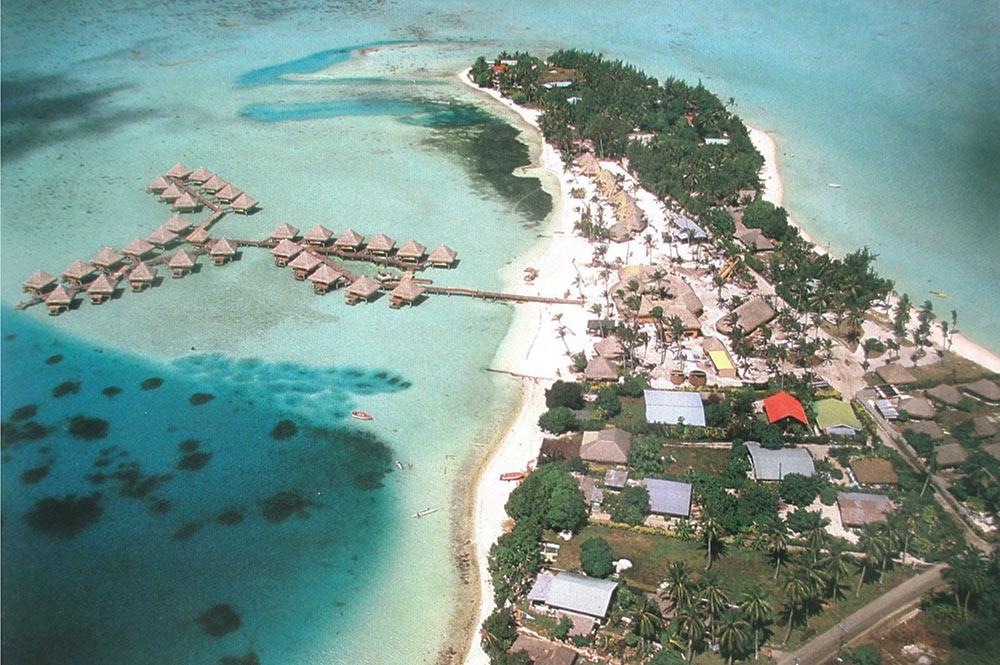 Pointe Matira à Bora Bora en 1967
