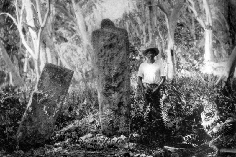Marae Ramapohia de Fangatau. Photo Bishop-museum-1938