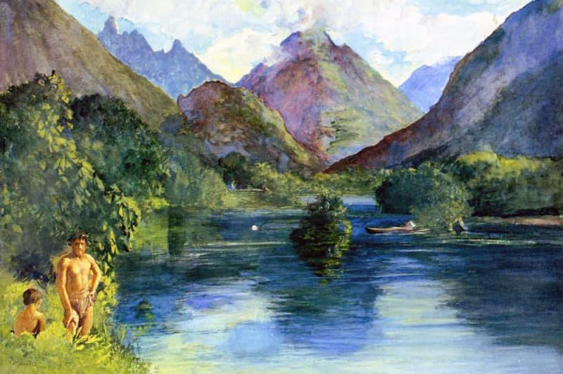 John La Farge. Entrance to Tautira River-Tahiti. 1890