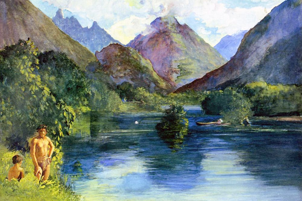 John La Farge. Entrance to Tautira River-Tahiti. 1890