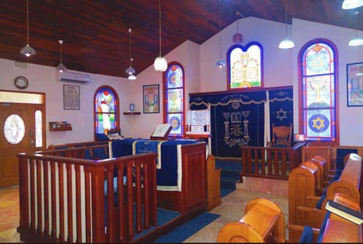 Intérieur de la synagogue de Papeete, Tahiti