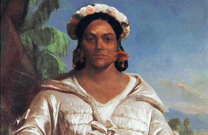 Portrait de la reine Pomare IV par Charles Giraud 1851 Musée de Tahiti et des îles