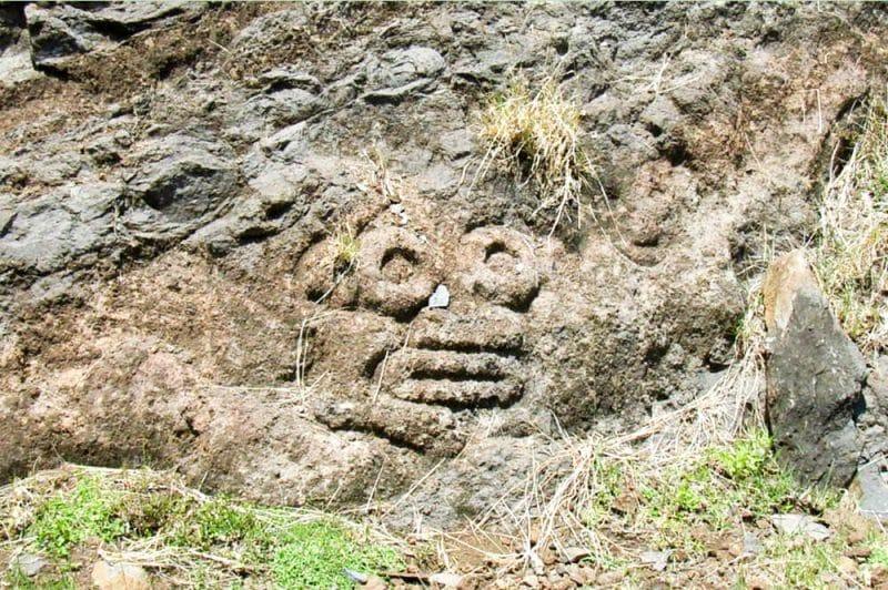Pétroglyphe de Hokatu, Ua Huka. Photo Alain
