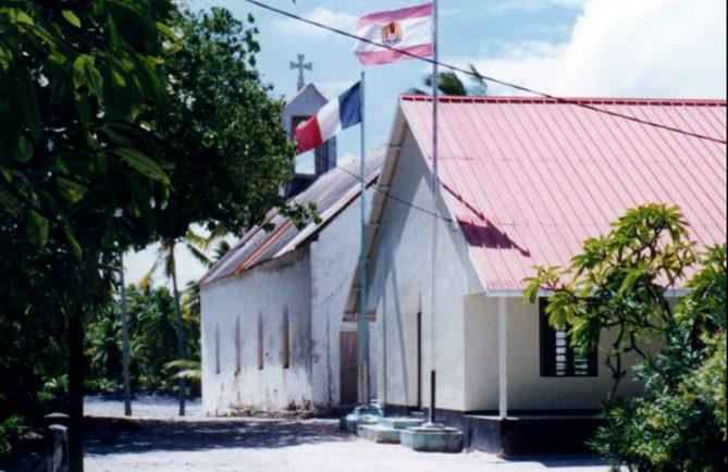 Maison communale de Amanu, Tuamotu © Tahiti Heritage
