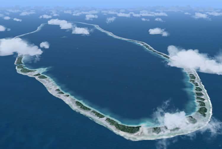 Atoll d'Amanu, vu d'avion
