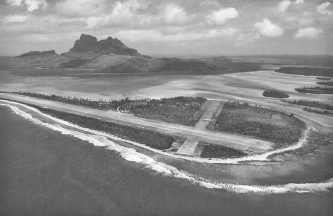 Construction de l'aéroport de Bora Bora