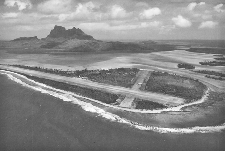 Construction de l'aéroport de Bora Bora