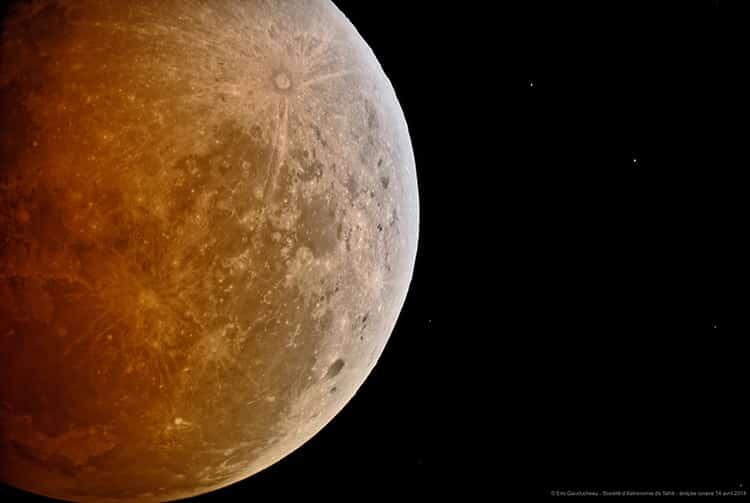 Eclipse lunaire à Tahiti du 14 avril 2014. Photo Société d'astronomie de Tahiti