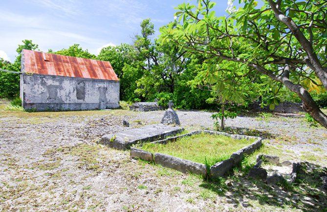 Ancien cimetière de Tetamanu, Fakarava. © Tahiti Heritage