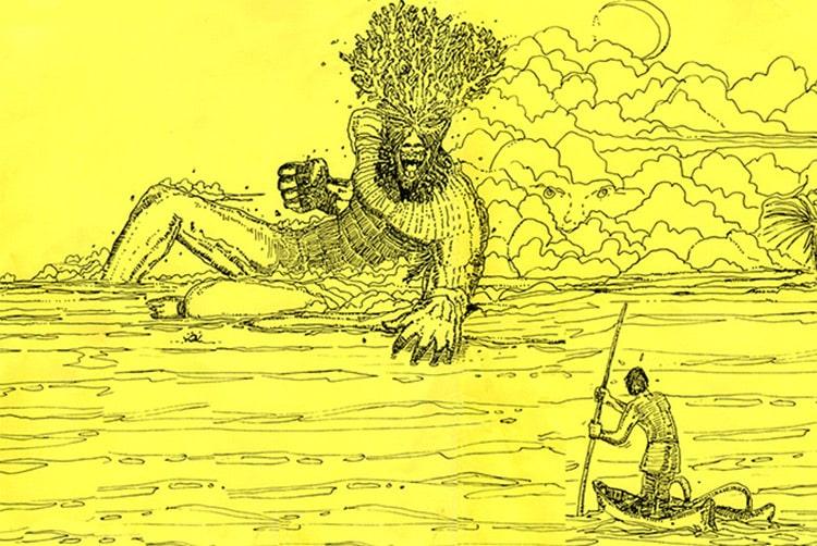 Tukipaia, le tupapa'u coiffé de corail de Hao. Daniel Akeou 1995