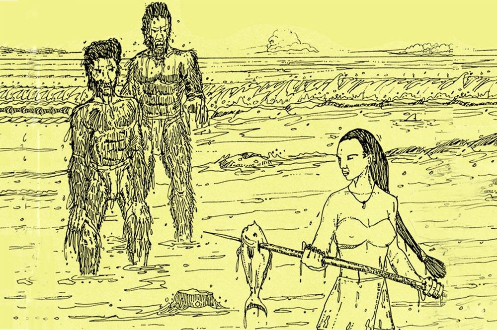 Kairarua, la femme enlevée par les Mokorea de Hao.