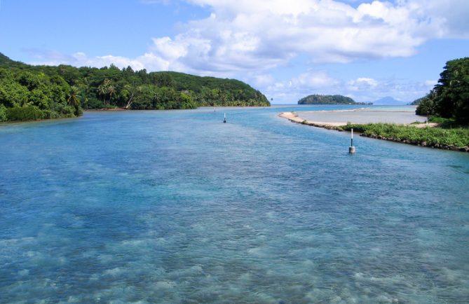 Baie de Port Bourayne à Huahine.