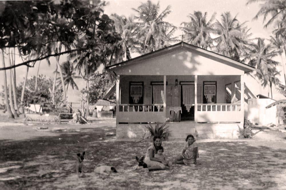 Maison de Kaukura en 1950