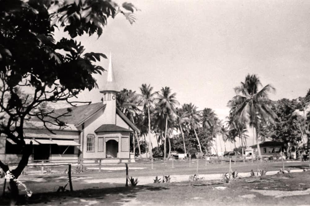 Temple de Kaukura en 1950