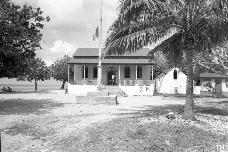 La maison communale, Chefferie, Mairie de Makemo en 1967