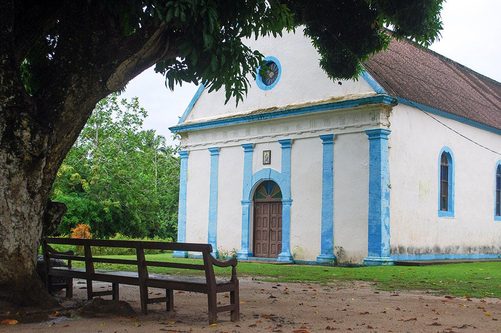 Eglise Saint-Joseph de Taku, Mangareva. © Tahiti Heritage