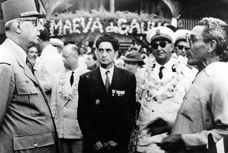 Le général de Gaulle à Papara (Tahiti)