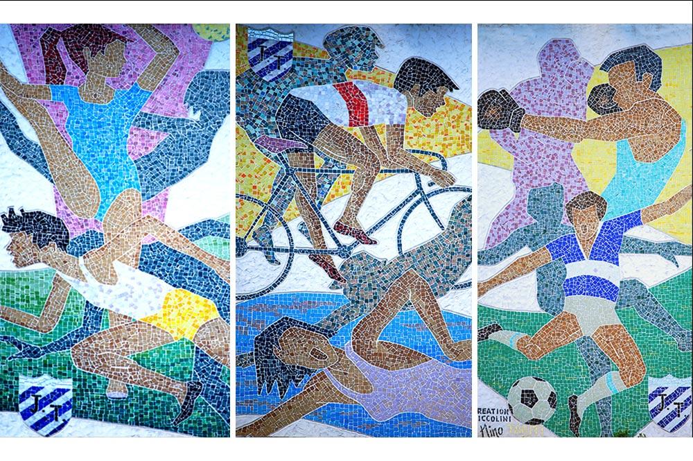 Fresque de la Jeunessse Polynésienne (J.P) à Papeete