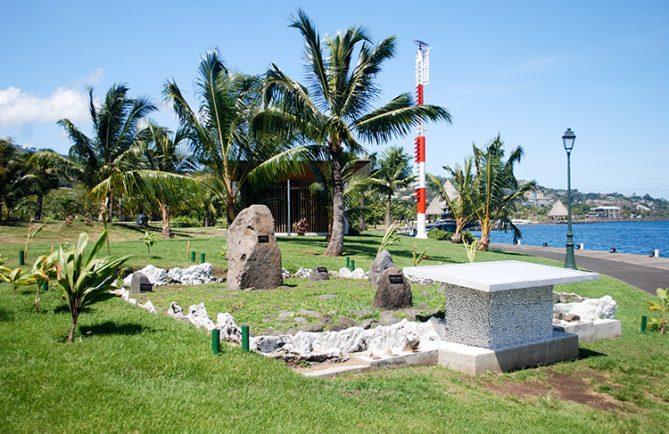 Lieu de mémoire des essais nucléaires, place Bounty à Papeete en 2010