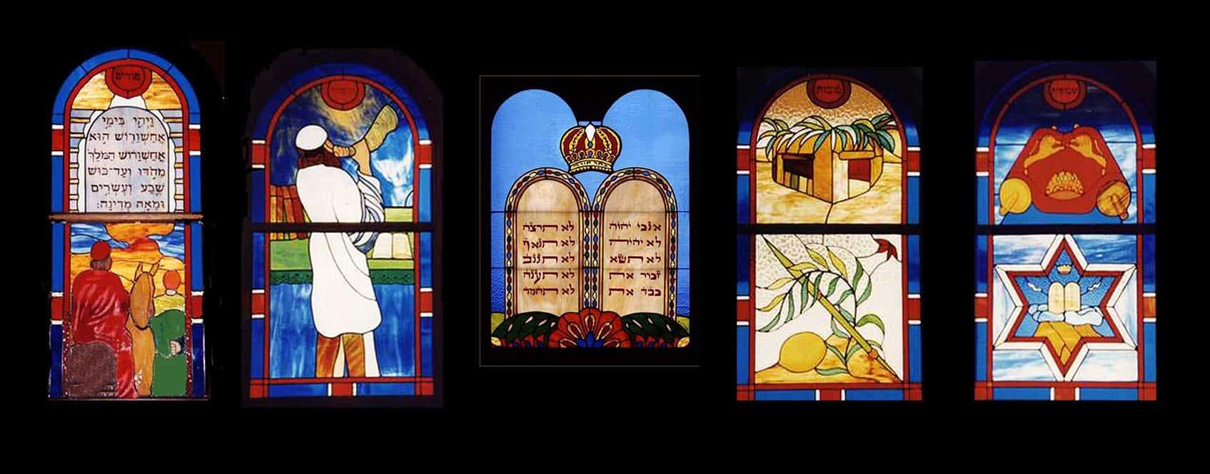 Vitraux de la synagogue de Papeete, réalisés par Deana de Marigny