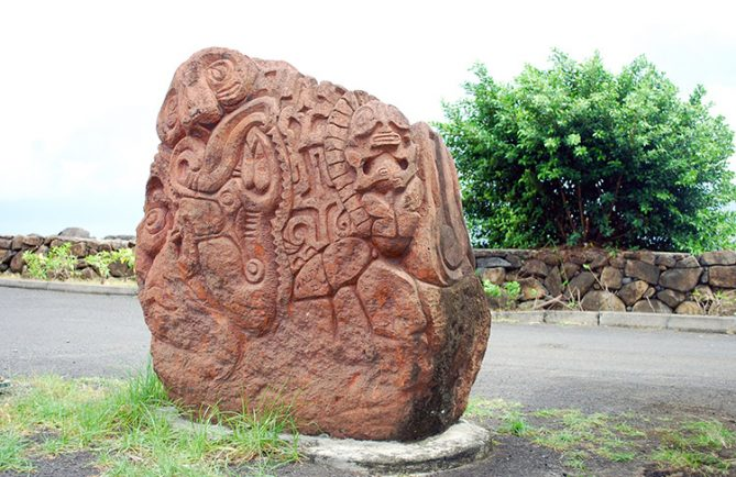 Sculpture de la place Toata, à Papeete