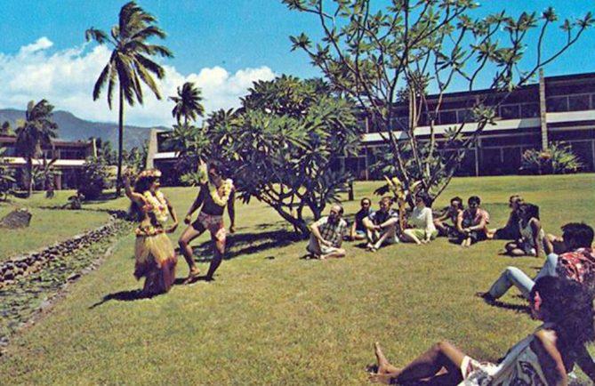 L'hôtel Royal Tahitien à Pirae en 1970