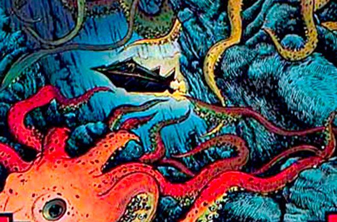 Jules Verne, vingt mille lieux sous les mers. Illustration Gérard Gasquet