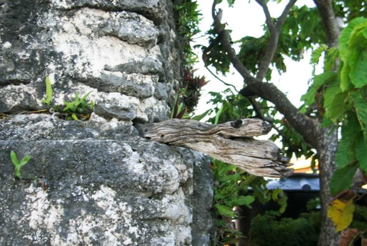 Vieux phare de Takaroa, détail