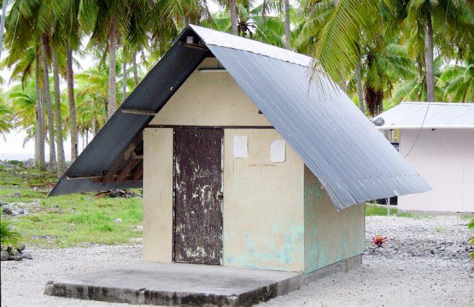 Le bureau de Poste de Tematangi en 2006