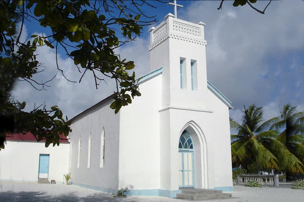EEglise Saint-Anne de Vahitahi. Photo Vuillermoz