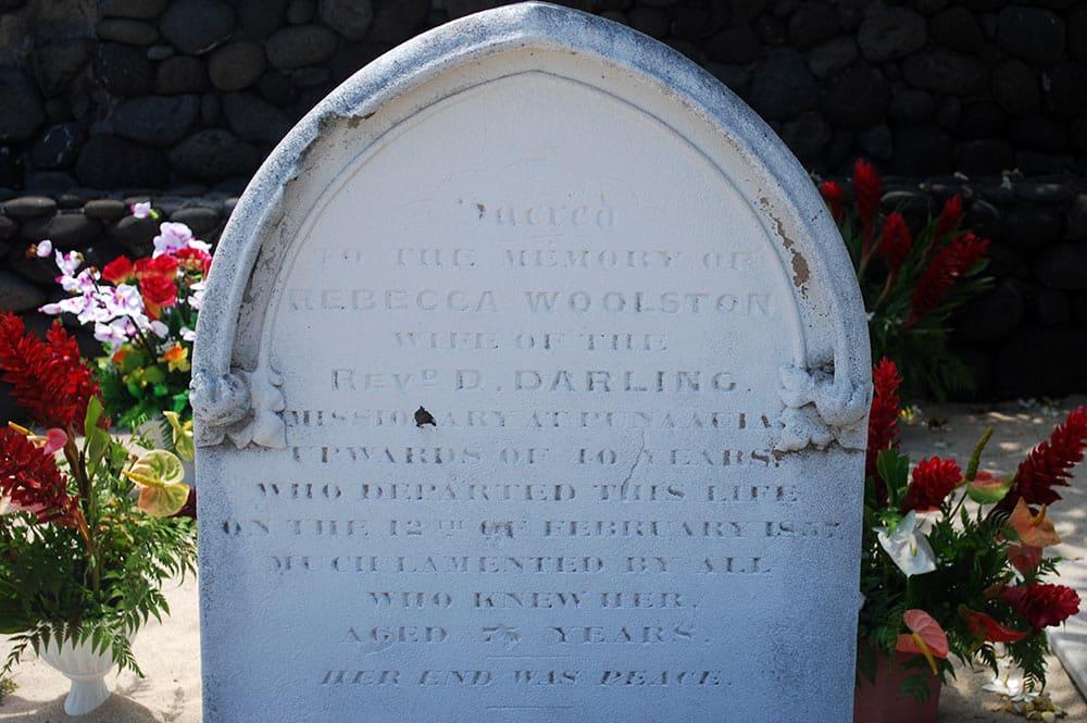 Tombe de Rebecca Woolston à Punaauia
