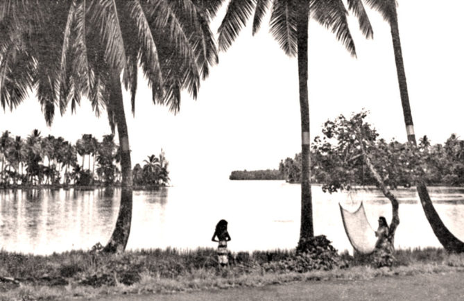 Pointe Tehoro à Mataiea en 1956. Photo Hollande