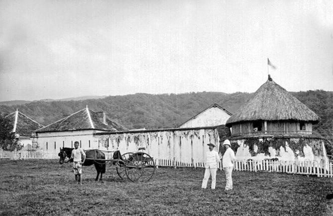 Fort de Taravao à Tahiti en 1897. Franom