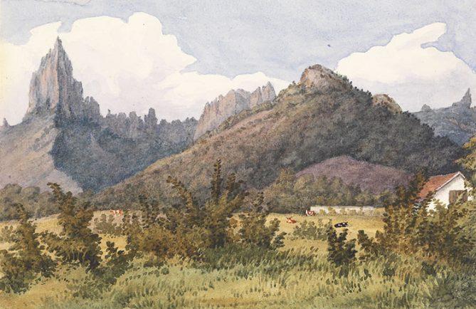 Opunohu par Edward Gennys Fanshawe, Augt 27th 1849