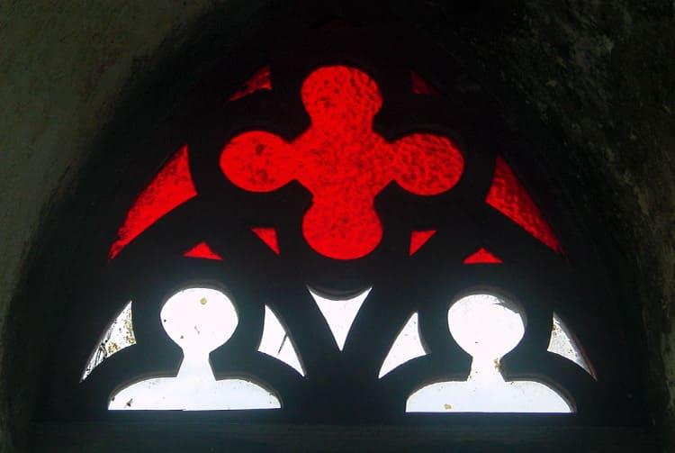 Vitrail de l'église du Sacré-coeur de Otepipi, à Anaa, Tamotu 2005 © Tahiti Heritage