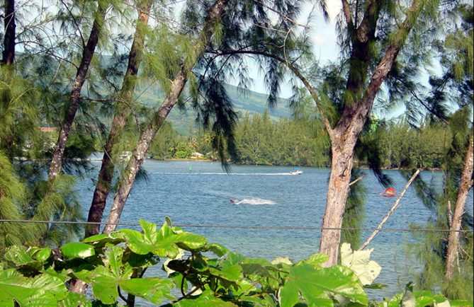 La baie de Fort Phaeton, Taravao, Tahiti