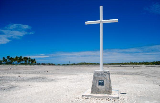 Croix du pélerinage à Fakahina © Tahiti Heritage