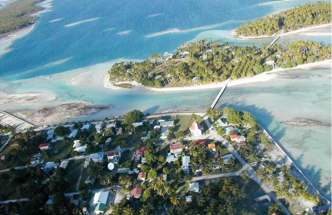 Village de Teana à Fangatau, vu d'avion