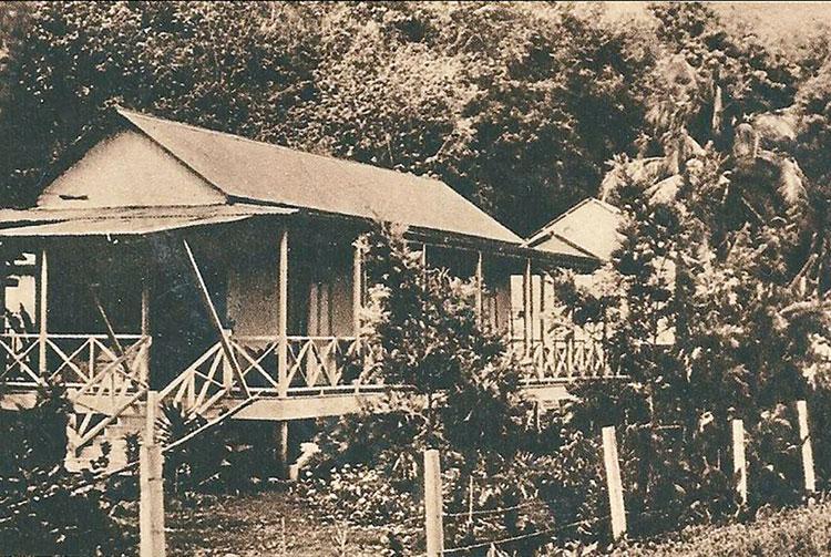La maison des infirmières de la léproserie d'Orofara vers 1960