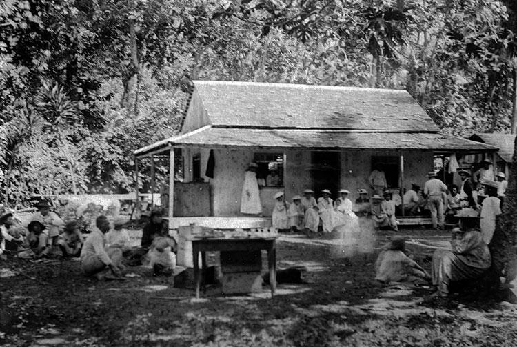 Léproserie d'Orofara à Mahina en 1934