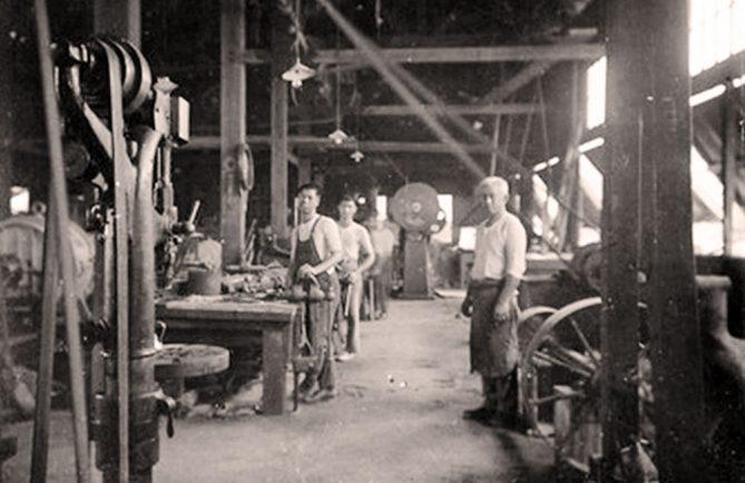 La forge de Makatea en 1920-1930