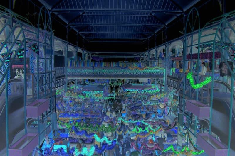 Effets de nuit, marché de Papeete