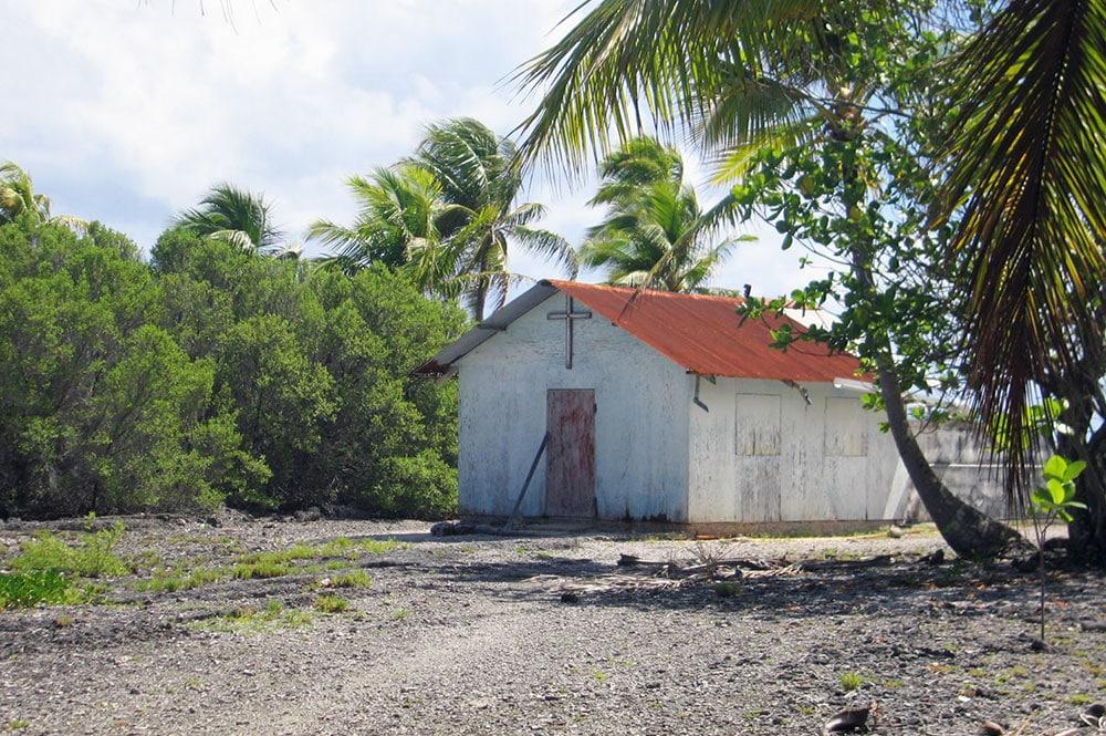 Vieille chapelle de Otaoa à Tahanea