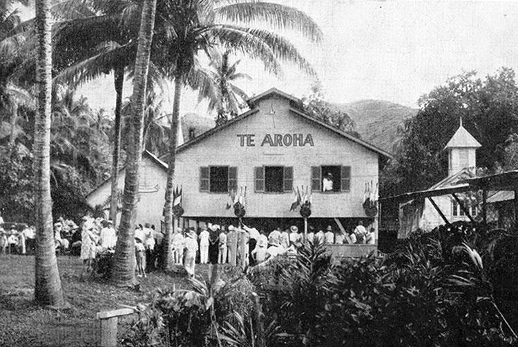Entrée de la léproserie d'Orofara en 1934