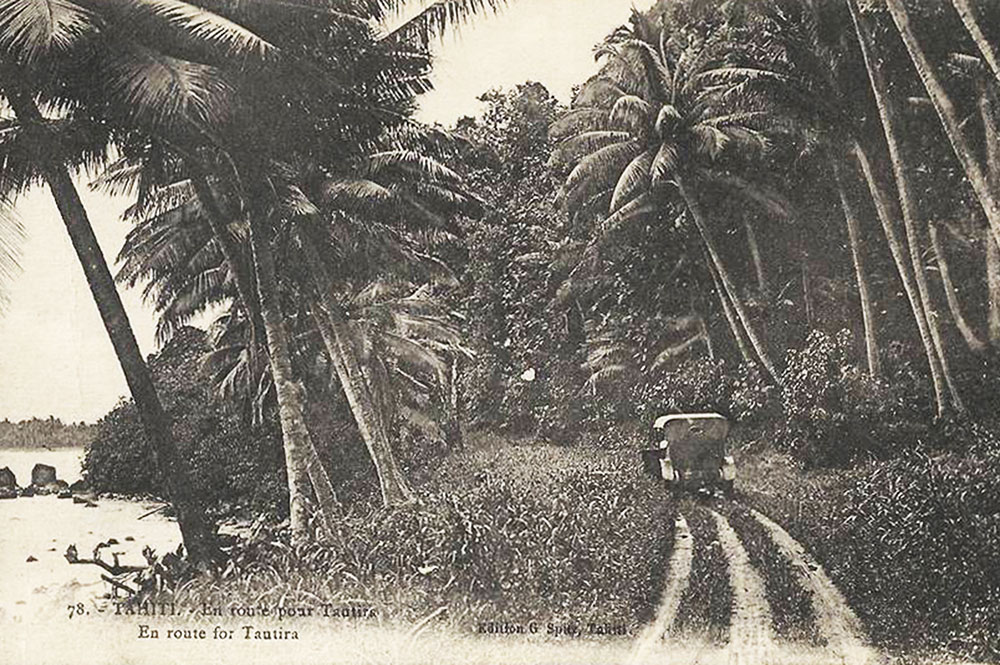En route pour Tautira, Tahiti. Photo G. Splitz.