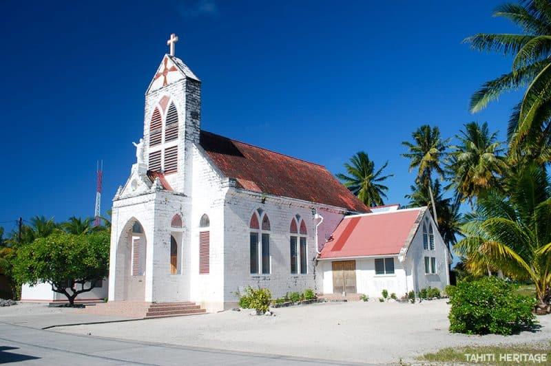 Eglise Saint-Marc de Kauehi, Tuamotu ©Tahiti Heritage