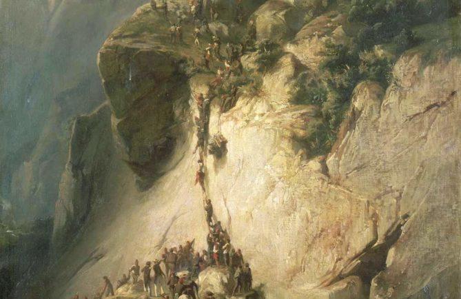 Prise du fort de la Fautaua le 17 décembre 1846. Peinture Charles Giraud 1857