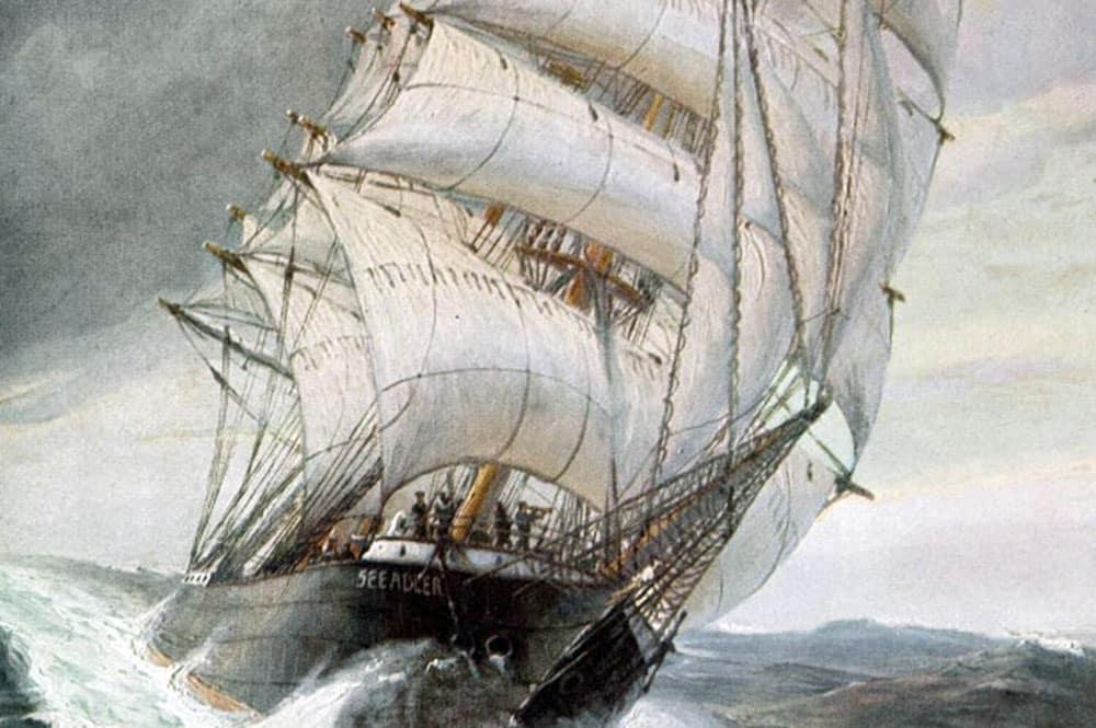 Le corsaire allemand Seeadler commandé par Von Luckner