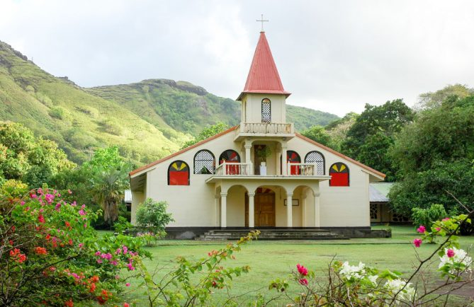 Eglise de l'Immaculée-Conception de Vaipaee. Photo Claude Serra