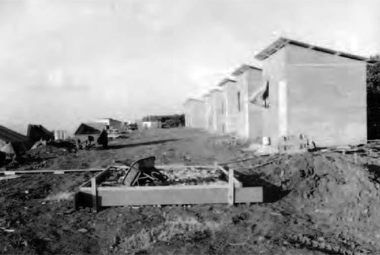 La zone résidentielle, camp Jeannine de Eiao en 1973
